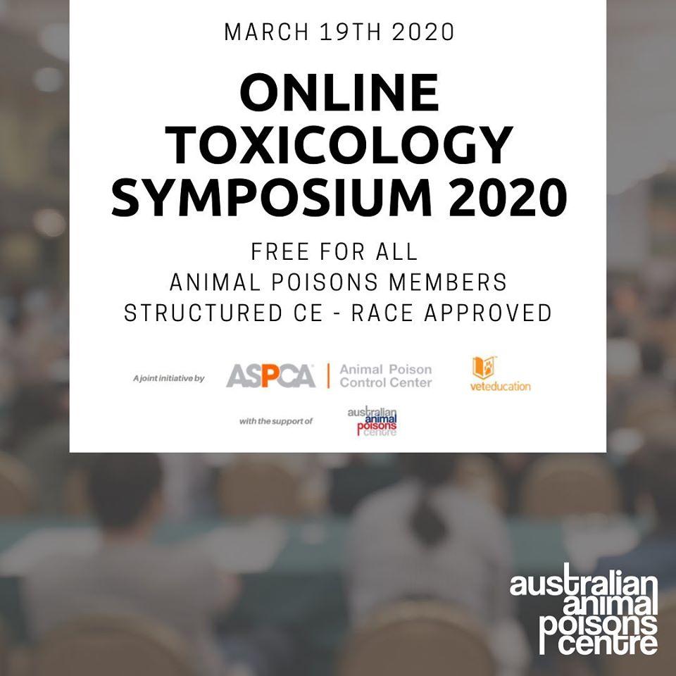 toxicology symposium aspca vet education